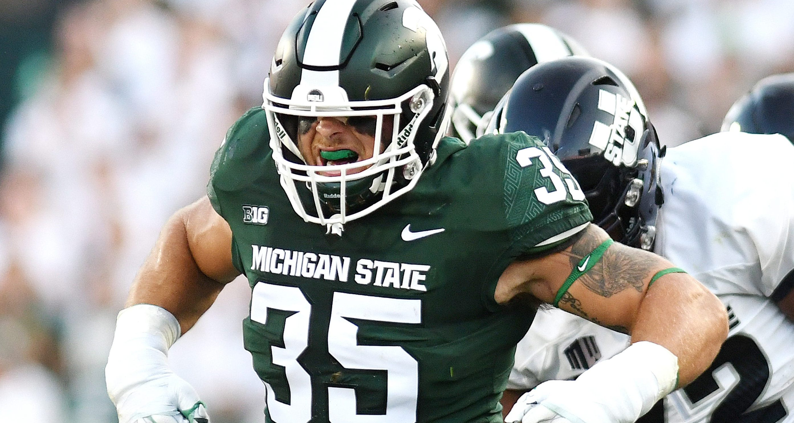 Joe Bachie-Michigan State Spartans-CFB Roundtable-Season Win Totals-Brad Powers-Thor Nystrom-