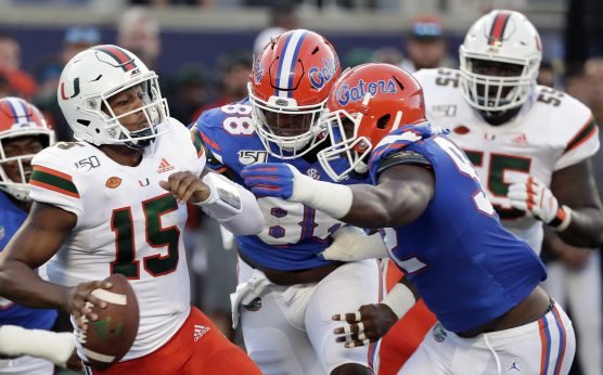 Jarren Williams-Miami Hurricanes-Florida Gators-Gators beat Miami, 24-20-Manny Diaz-Dan Mullen-Feleipe Franks-Jabari Zuniga-
