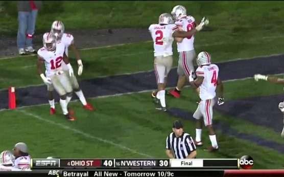 Ohio State at Northwestern-Ohio State Buckeyes football-Northwestern Wildcats football-Pat Fitzgerald-Ryan Day-Justin Fields-Hunter Johnson-2013 Bad Beat-Northwestern vs. Ohio State Bad Beat-