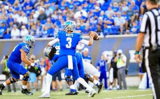 Memphis vs. SMU-Memphis Tigers-SMU Mustangs-Shane Buechele-Brady White-Liberty Bowl-Blake Von Hagen