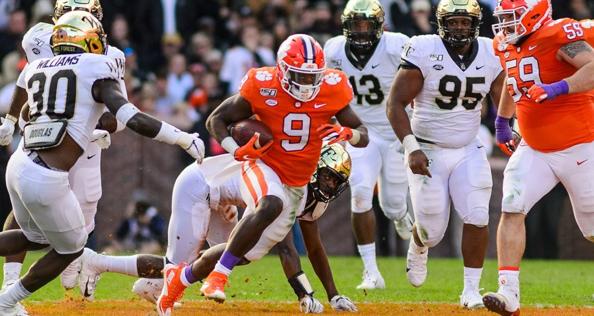 Travis Etienne-Clemson Tigers football-Ohio State Buckeyes-Christopher Smith-Christopher Smith's Week 13 Power Rankings-Vegas Power Rankings-