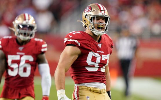MGM Bettor puts 300K on 49ers-San Francisco 49ers-Nick Bosa-New Orleans Saints-Pac-12 Championship Game-Utah Utes-3-game parlay for 35K-