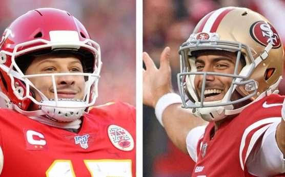 Patrick Mahomes-Super Bowl LIV spread-Raheem Mostert-Aaron Rodgers-Kansas City Chiefs-San Francisco 49ers-Tyreek Hill-Sammy Watkins-