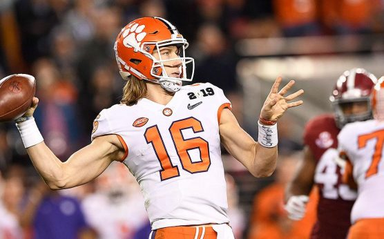 Trevor Lawrence-college football future odds-odds to win the 2021 CFP-D'Eriq King-Clemson Tigers-