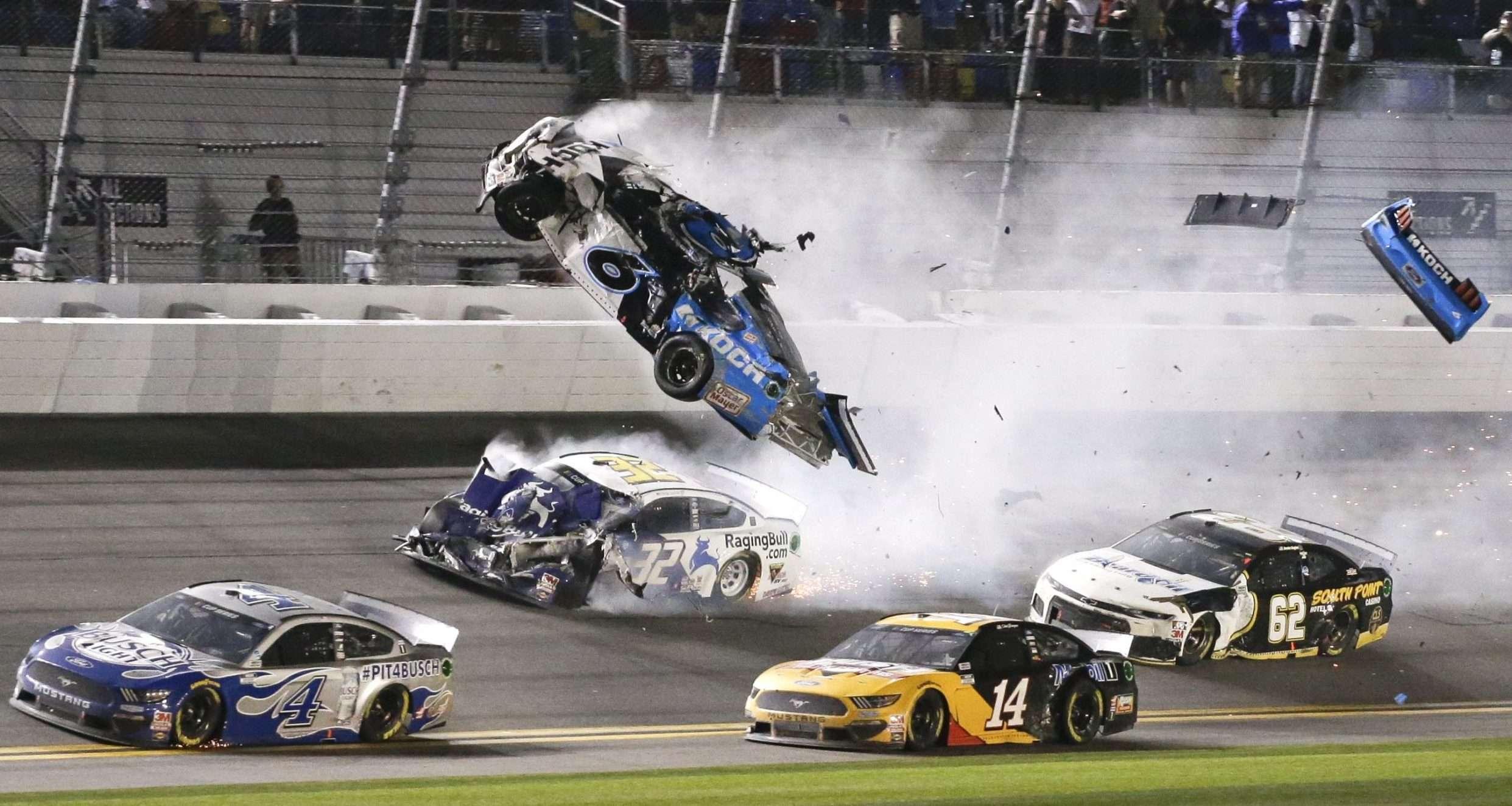Ryan Newman-2020 Daytona 500-Denny Hamlin-Dale Earnhardt-Ryan Newman crash at Daytona-