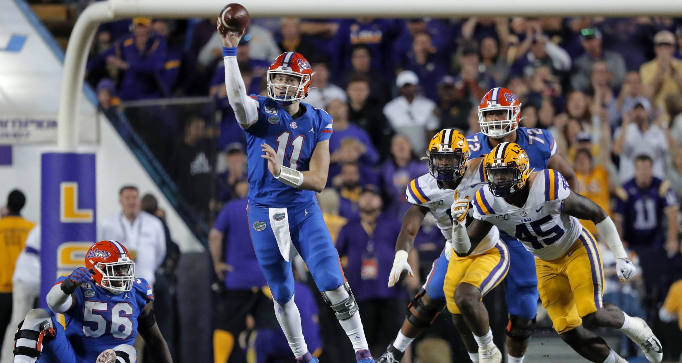 2020 College Football Games of the Year-Florida Gators-Kyle Trask-Iron Bowl spread-SEC early lines-2020 CFB Games of the Year lines-FanDuel-Mike Leach-Nick Saban-Mac Jones-Will Muschamp-Kirby Smart-