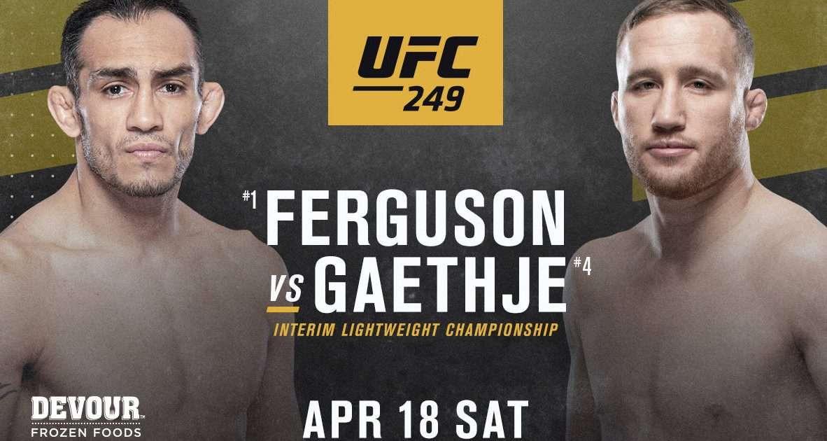 UFC 249 main event is official: Tony Ferguson vs. Justin Gaethje ...